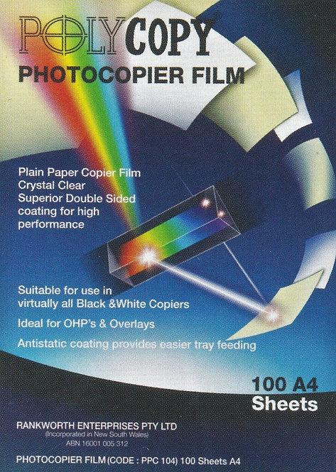 Clear, Anti-Static Copier Film