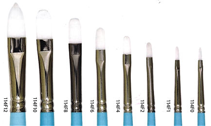 Taklon Filbert Brushes - Art Materials