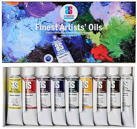 Oil Colour Set in Cardboard Box - Professional Artists Paints