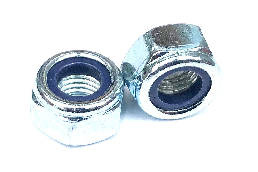 M12-1.25 Fine Pitch Nylock Lock Nut Zinc