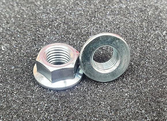 M10 Plain Flanged Nut Zinc Plated 14mm A/F JIS