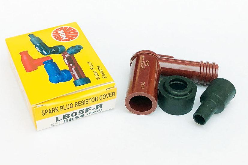 Spark Plug Resistor Cover LB05F R(Red)  Short 95deg 8854