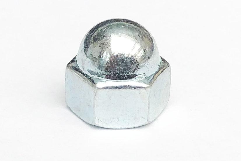 M8 Dome Low Top Nut Zinc 12mm Spanner A/F JIS