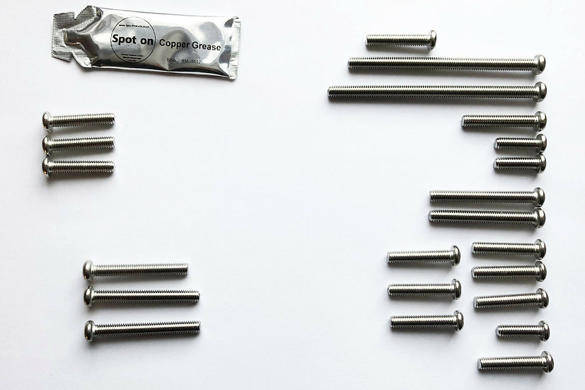 KAWASAKI KH400-A3-A4-A5 STAINLESS STEEL JIS SCREW KIT