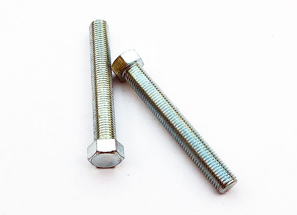 M10-1.25x70 Hex Set Bolt Zinc Plated 1.25 Pitch 14mm A/F JIS