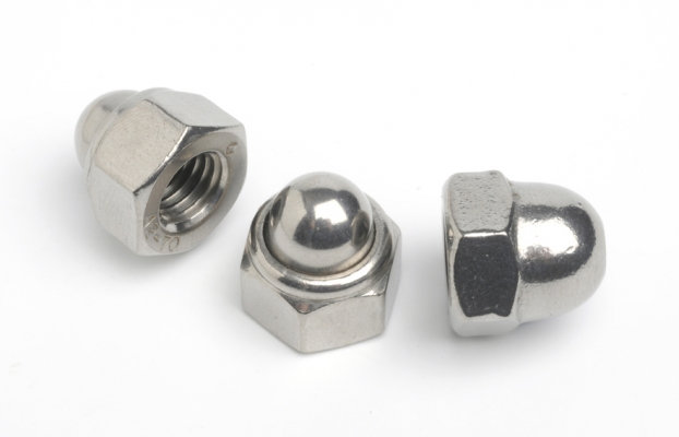 Stainless Steel Dome Nuts Standard Coarse Pitch (Pack of 10)