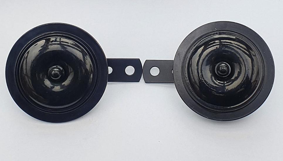 Horn 12 Volt Black Twin 90mm Diameter