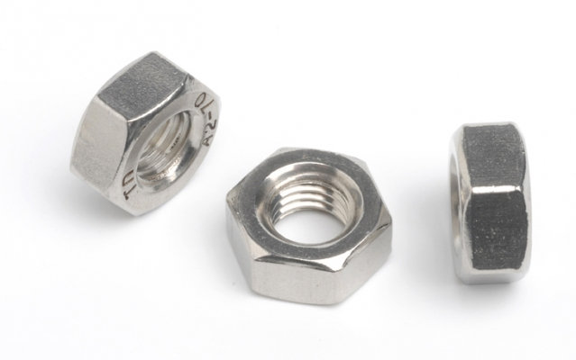 Stainless Steel Full Hex Nuts Standard Coarse Pitch (Pack of 10)