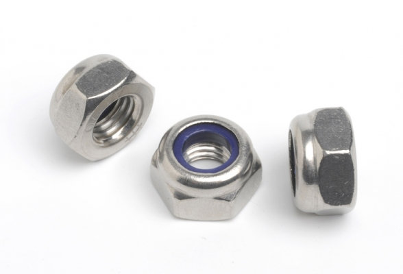 Stainless Steel Nyloc Nuts Standard CoarseThread (Pack of 10)