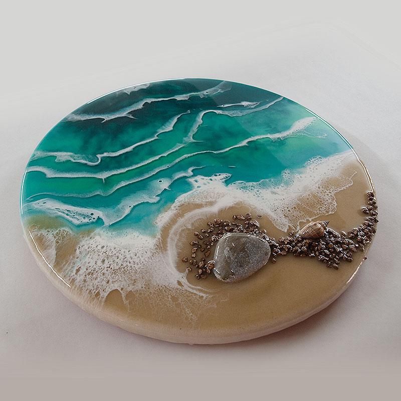 Рисование смолой моря