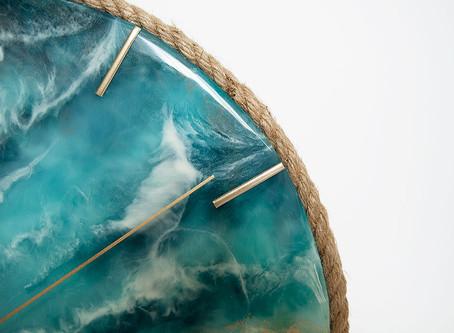 Работа «часы «Океан»» после нашего мастер-класса