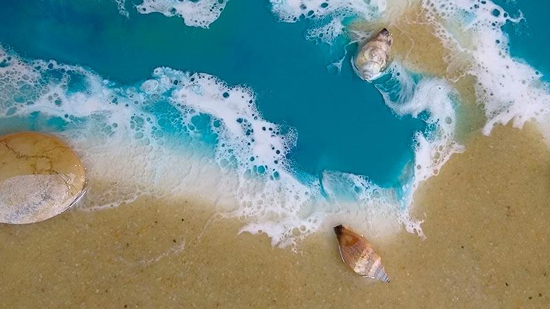 Море в технике ArtResin