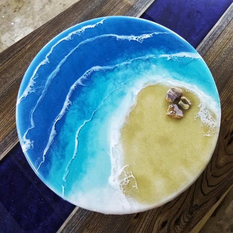 Рисование моря в технике ArtResin