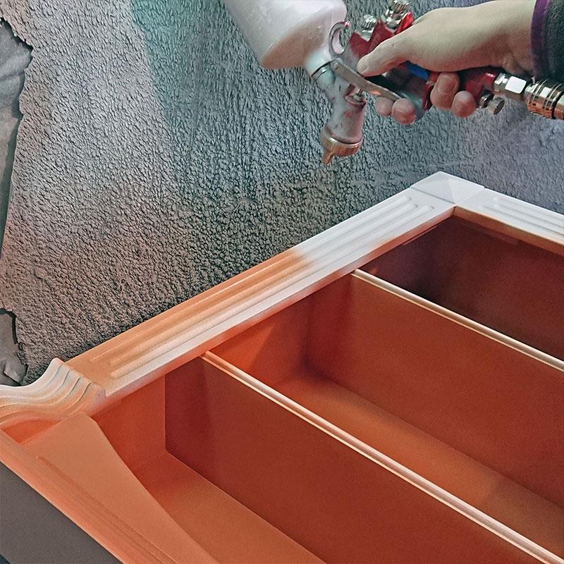 Покраска изделия из краскопульта