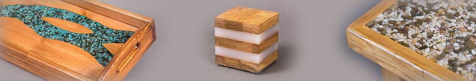 Оригинальные изделия из дерева, фанеры и эпоксидной смолы