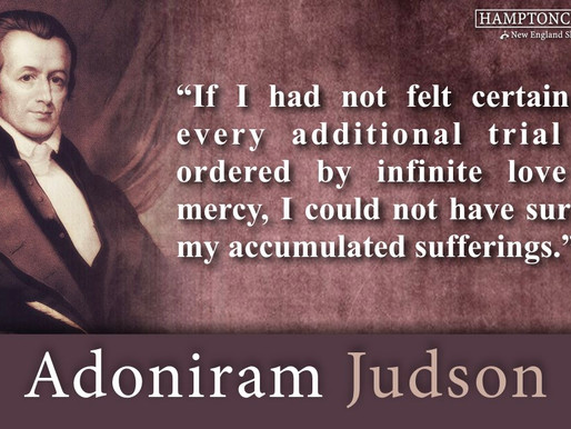 Quote of the Day: Adoniram Judson