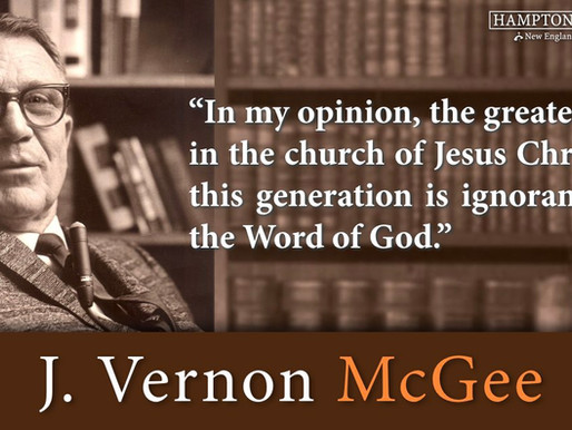 Quote of the Day: J. Vernon McGee
