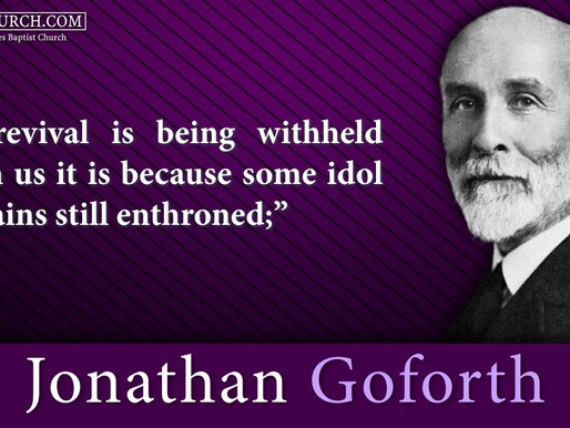Quote of the Day: Jonathan Goforth