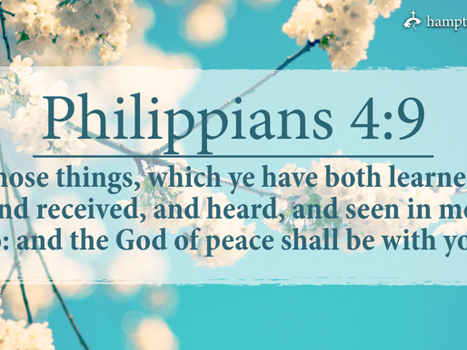 Verse of the Day: Philippians 4:9