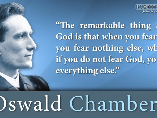 Quote of the Day: Oswald Chambers