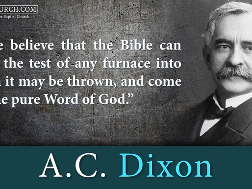 Quote of the Day: A.C. Dixon
