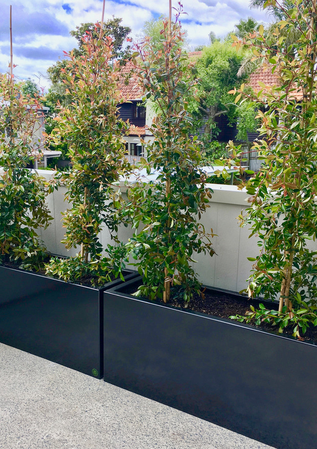 1200mm Black Powdercoated Steel Planter