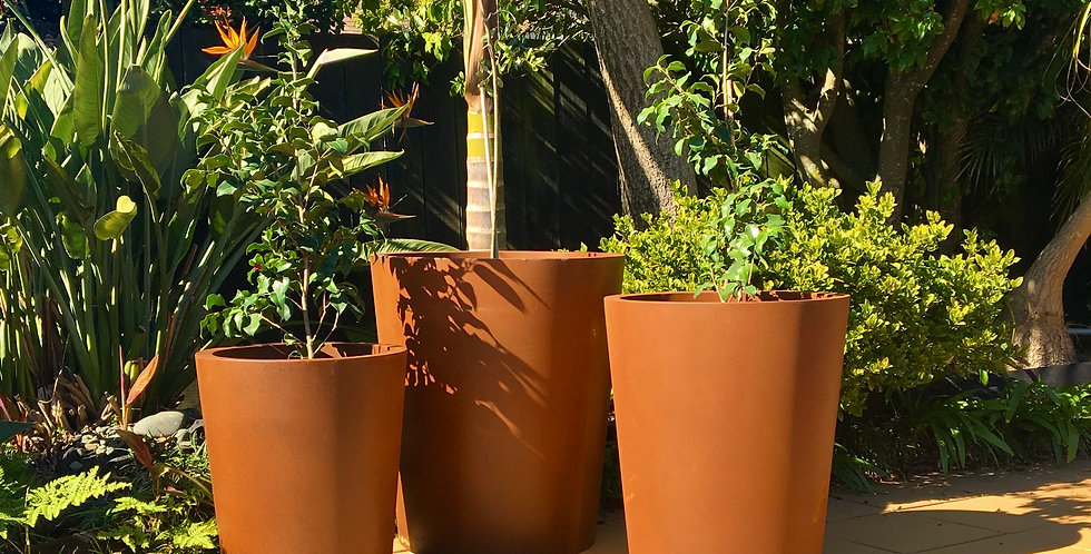 CORTEN TAPERED CYLINDERS