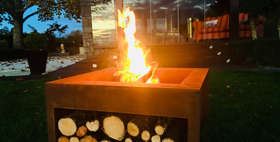 FIRE PIT SQUARE 800 with storage