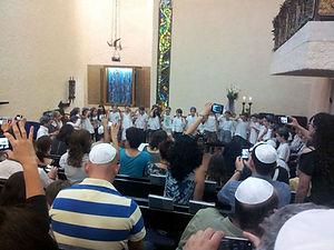 תלמידי היסודי בבית הכנסת אהל אברהם