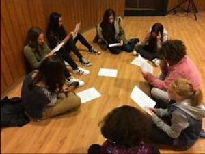 תלמידי חטיבת הנעורים בקבוצת מנהיגות