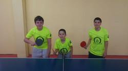קבוצת טניס שולחן של חטיבת הנעורים