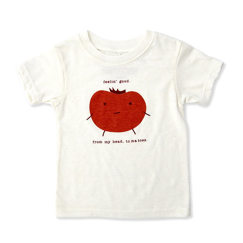 Feel Good Tomato Eco-Blend Baby + Kids Tee in Natural