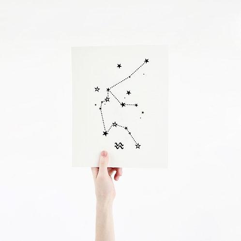 Aquarius 8 x 10 Silk Screen Paper Print - Unframed