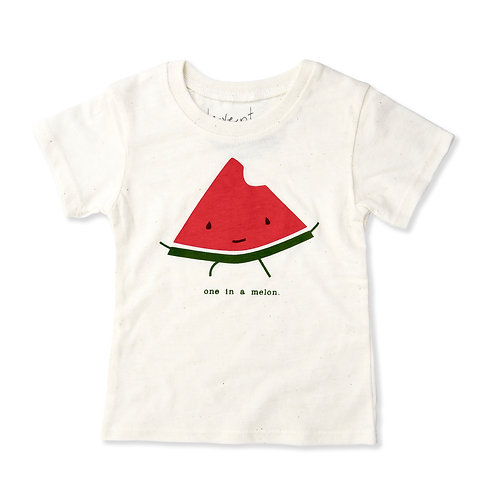 One in a Melon Eco-Blend Baby + Kids Tee in Natural