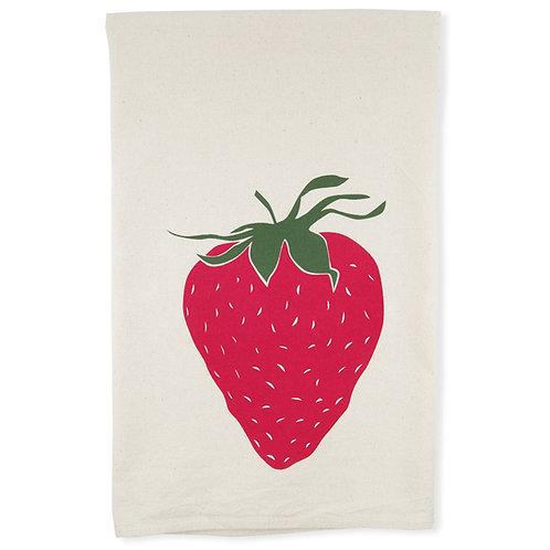 Strawberry All Natural Flour Sack Tea Towel