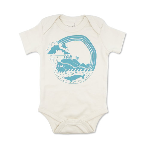 West Coast Organic Cotton Baby Bodysuit in Natural