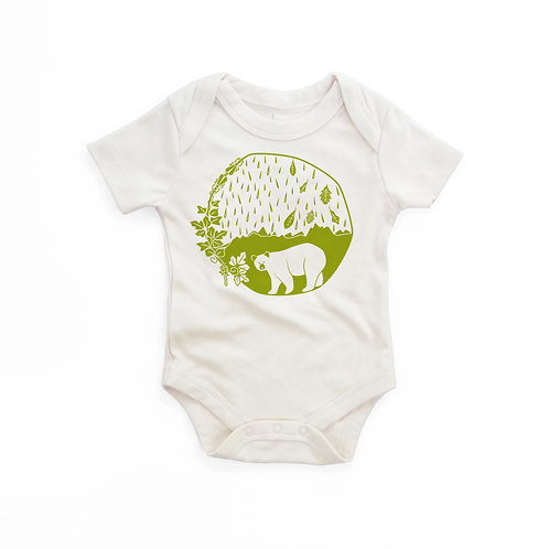 East Coast Organic Cotton Baby Bodysuit in Natural