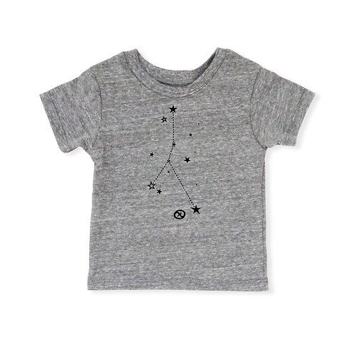 Cancer Eco-Blend Baby + Kids Tee in Heather Grey [June 21 - July 22]