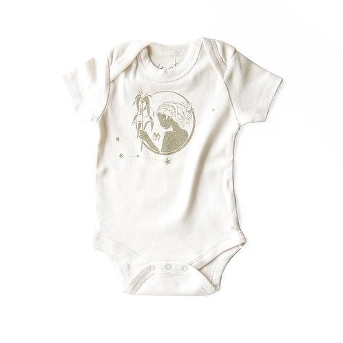 Virgo Organic Baby Bodysuit in Natural [August 23 - September 22]