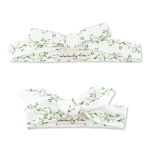 Mistletoe Organic Knotted Headband in Adult and Baby