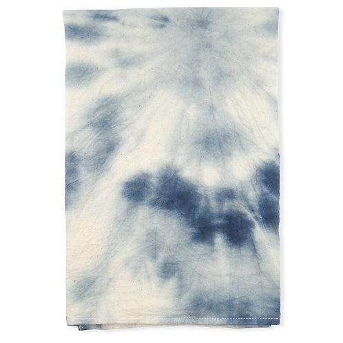 Navy Blue Tye Dye All Natural Flour Sack Tea Towel