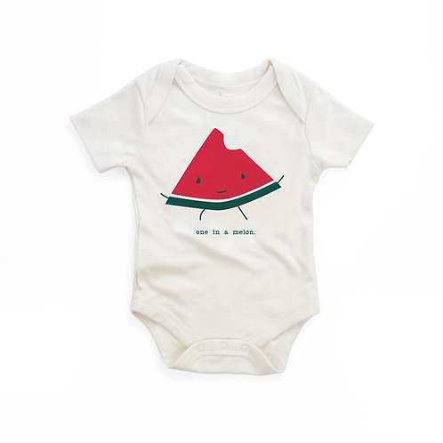 One in a Melon Organic Cotton Baby Bodysuit in Natural