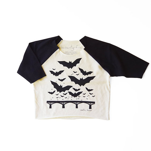Austin Texas Baby + Kids Organic 3/4 Jersey in Black + White