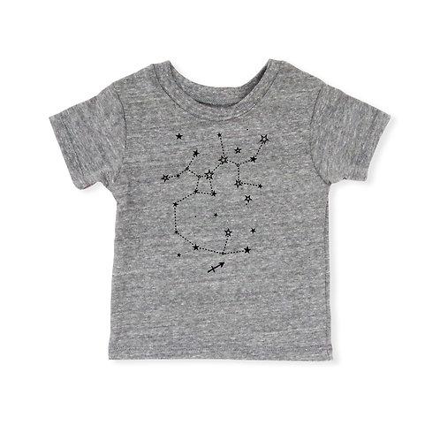 Sagittarius Eco-Blend Baby + Kids Tee in Heather Grey [November 22 - December