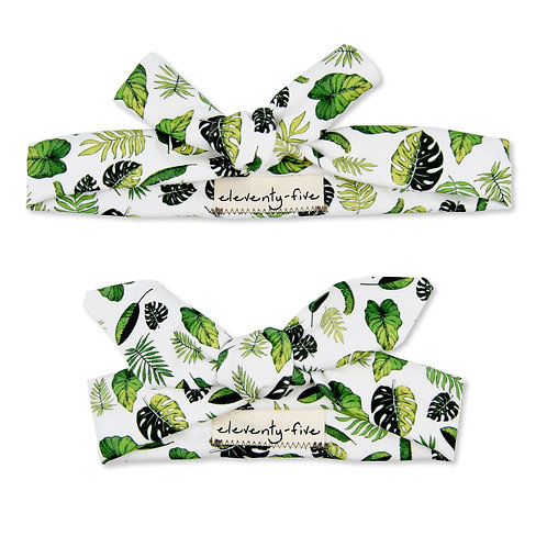 Tropical Organic Knotted Headband in Adult and Baby