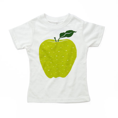 Apple Eco-Blend Baby + Kids Tee in Natural