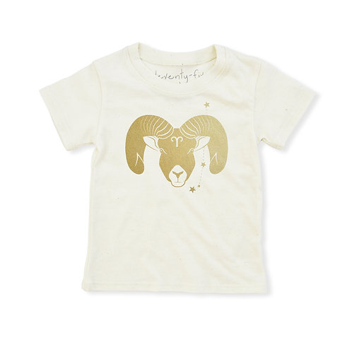 Aries Eco-Blend Baby + Kids Tee in Natural [March 21 - April 19]