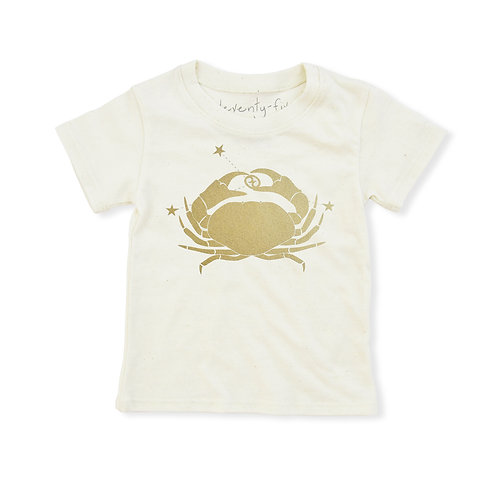 Cancer Eco-Blend Baby + Kids Tee in Natural [June 21 - July 22]