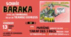 Soirée Baraka Transe Express Gare à Coul
