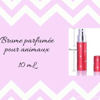 Brume parfumée pour animaux : Parfume, soin du poil, apaise les démangeaisons